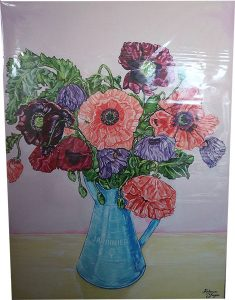 Canvas Print with Clear Plastic Removable Wrap