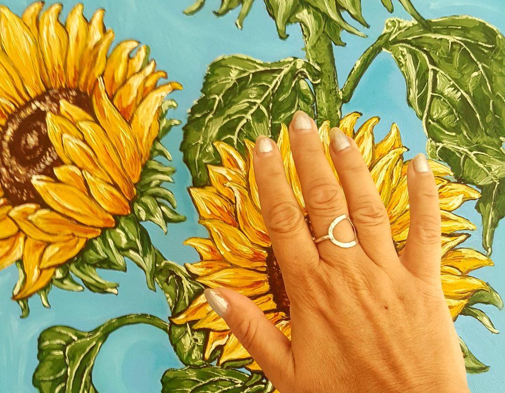 Spotlight Painting 'Sunflowers '